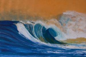 Die Welle Acryl 80 x 120 cm