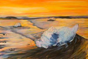 Eiskristalle im Licht Acryl 80 x 120 cm