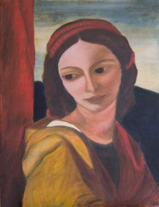 Heilige Cäcilie Acryl 70 x 90 cm