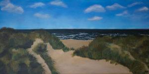 Nordseedünen Acryl 40 x 80 cm